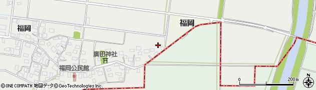 山形県酒田市広野福岡260周辺の地図
