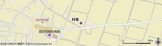 山形県酒田市浜中村東周辺の地図