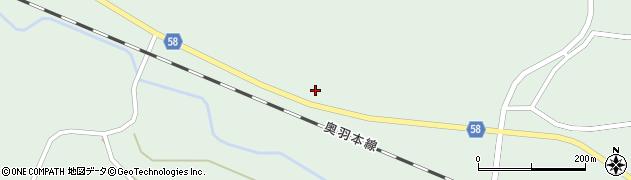 山形県最上郡鮭川村京塚88周辺の地図