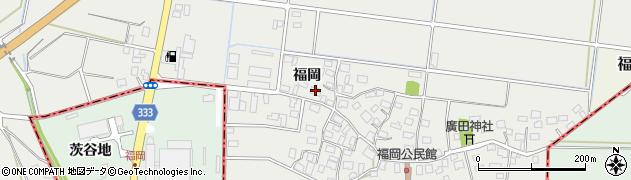 山形県酒田市広野福岡167周辺の地図