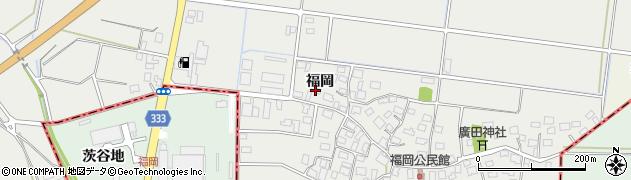 山形県酒田市広野福岡166周辺の地図