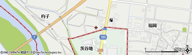 山形県酒田市広野福岡491周辺の地図