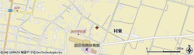 山形県酒田市浜中下村周辺の地図