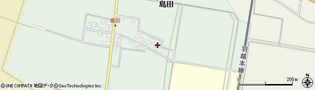 山形県東田川郡庄内町島田谷地古田周辺の地図