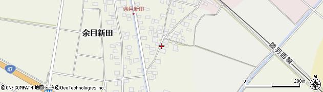 山形県東田川郡庄内町余目新田東町周辺の地図
