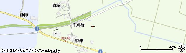 宮城県栗原市栗駒里谷千刈待周辺の地図