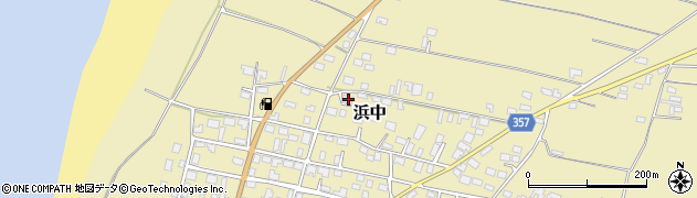 山形県酒田市浜中村北分散3周辺の地図