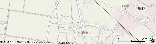 山形県東田川郡庄内町余目新田新田町周辺の地図
