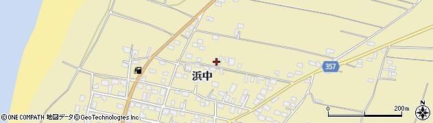 山形県酒田市浜中村北分散20周辺の地図