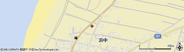 山形県酒田市浜中村北分散28周辺の地図