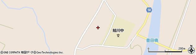 山形県最上郡鮭川村庭月岩下周辺の地図