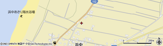 山形県酒田市浜中村北分散76周辺の地図