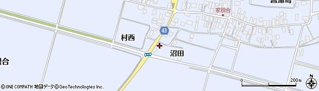 山形県東田川郡庄内町家根合沼田61周辺の地図