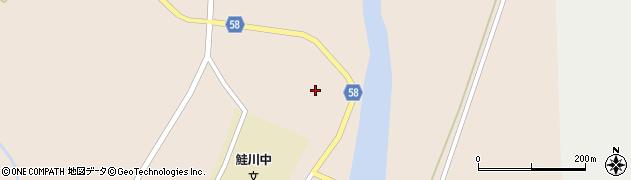 山形県最上郡鮭川村庭月2501周辺の地図