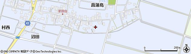 山形県東田川郡庄内町家根合菖蒲島95周辺の地図