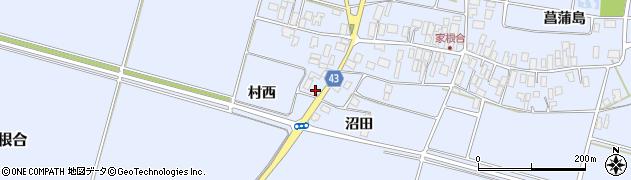 山形県東田川郡庄内町家根合村西39周辺の地図
