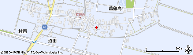 山形県東田川郡庄内町家根合菖蒲島111周辺の地図