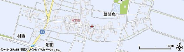 山形県東田川郡庄内町家根合菖蒲島114周辺の地図