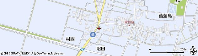 山形県東田川郡庄内町家根合菖蒲島167周辺の地図