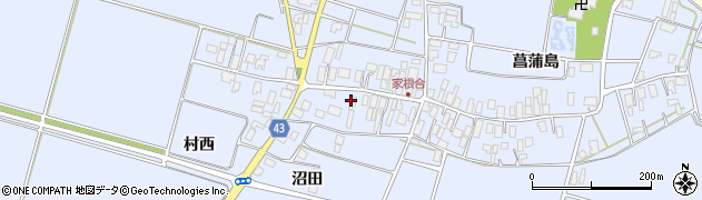 山形県東田川郡庄内町家根合菖蒲島149周辺の地図