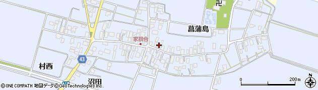 山形県東田川郡庄内町家根合菖蒲島119周辺の地図