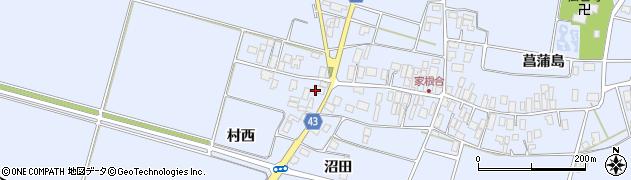 山形県東田川郡庄内町家根合菖蒲島172周辺の地図