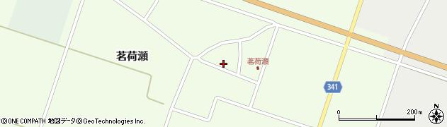 山形県東田川郡庄内町茗荷瀬岡田周辺の地図