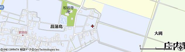 山形県東田川郡庄内町家根合菖蒲島10周辺の地図
