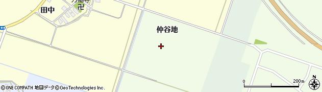 山形県東田川郡庄内町茗荷瀬仲谷地周辺の地図