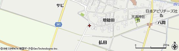 山形県東田川郡庄内町払田増穂田58周辺の地図