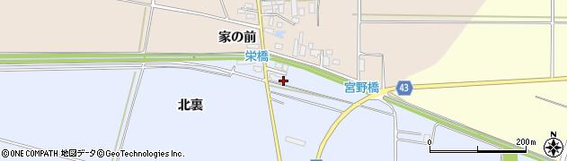 山形県東田川郡庄内町家根合北裏107周辺の地図