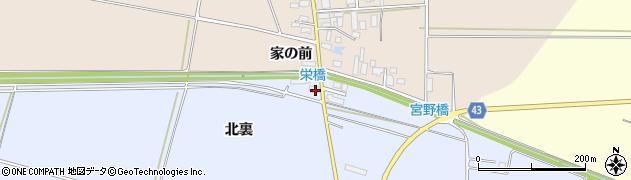 山形県東田川郡庄内町家根合北裏186周辺の地図