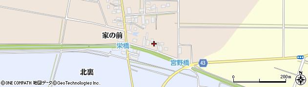 山形県東田川郡庄内町宮曽根家の前周辺の地図