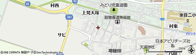 山形県東田川郡庄内町払田サビ周辺の地図