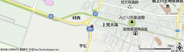 山形県東田川郡庄内町払田村西2周辺の地図
