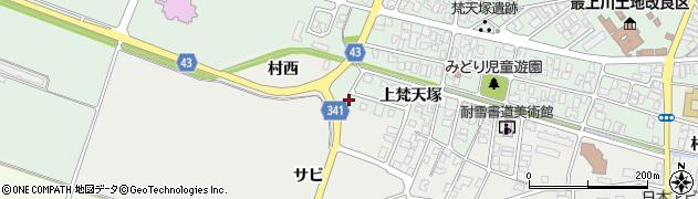 山形県東田川郡庄内町余目上梵天塚2周辺の地図