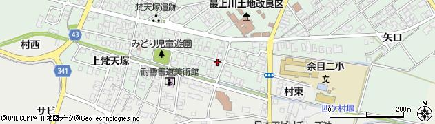 山形県東田川郡庄内町余目梵天塚88周辺の地図