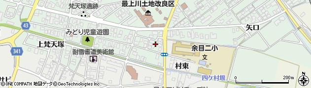 山形県東田川郡庄内町余目梵天塚23周辺の地図
