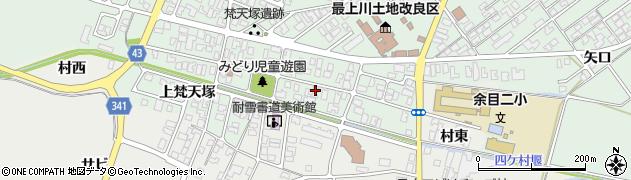 山形県東田川郡庄内町余目梵天塚98周辺の地図