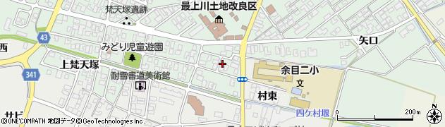 山形県東田川郡庄内町余目梵天塚28周辺の地図