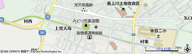 山形県東田川郡庄内町余目梵天塚103周辺の地図