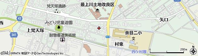 山形県東田川郡庄内町余目梵天塚26周辺の地図