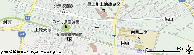 山形県東田川郡庄内町余目梵天塚周辺の地図