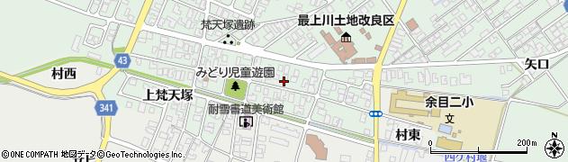 山形県東田川郡庄内町余目梵天塚70周辺の地図