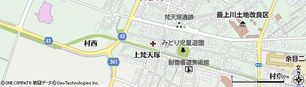 山形県東田川郡庄内町余目梵天塚167周辺の地図