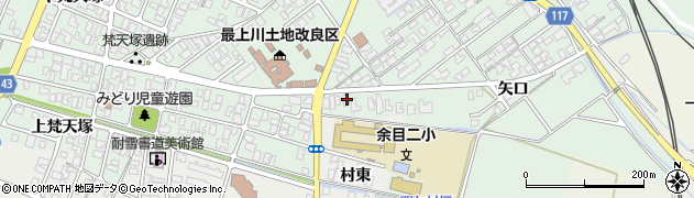 山形県東田川郡庄内町余目矢口50周辺の地図