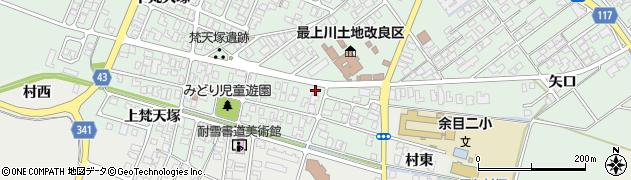山形県東田川郡庄内町余目梵天塚58周辺の地図