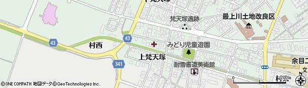 山形県東田川郡庄内町余目梵天塚170周辺の地図