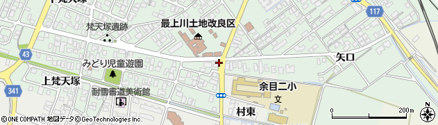 山形県東田川郡庄内町余目梵天塚1周辺の地図