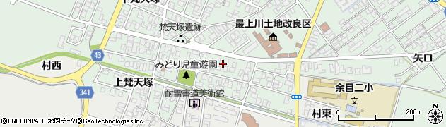 山形県東田川郡庄内町余目梵天塚75周辺の地図
